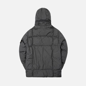 Stone Island Real Down Hooded Jacket - Anthracite