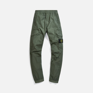 Stone Island Garment Dyed Stretch Cotton Pants - Olive