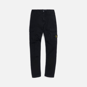 Stone Island Stretch Broken Twill Garment Dyed Pants - Black