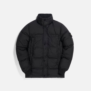 Stone Island Garment Dyed Crinkle Reps Real Down Jacket - Black Image 1