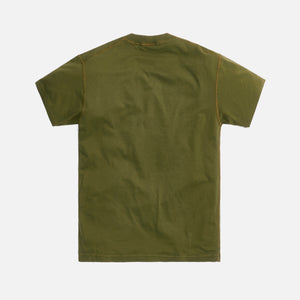 Stone Island Cotton Jersey Garment Dyed Fissato Tee - Olive Green