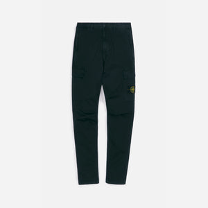 Stone Island Stretch Broken Twill Garment Dyed Old Effect Cargo Pant - Black