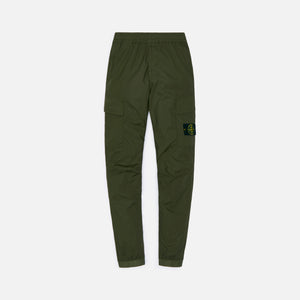 Stone Island Stretch Cotton Tela Garment Dyed Cargo Pants - Olive