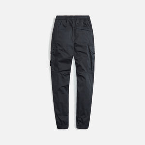 Stone Island Stretch Wool Satin Garment Dyed Cargo Pants - Charcoal