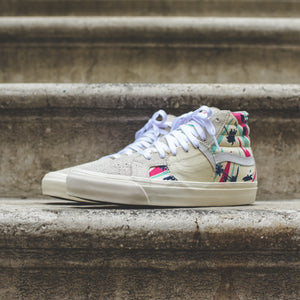 e71d7b79aa Vans Sk8-Hi Bricolage LX - Embroidered Palm   Classic White   Mutli