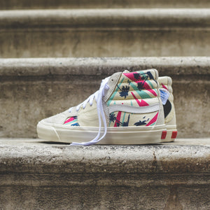 Vans Sk8-Hi Bricolage LX - Embroidered Palm / Classic White / Mutli