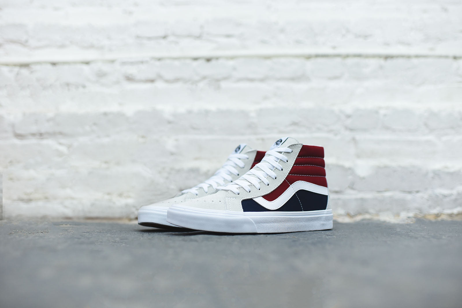 Vans Sk8-Hi Reissue Retro Block - White / Red / Blue