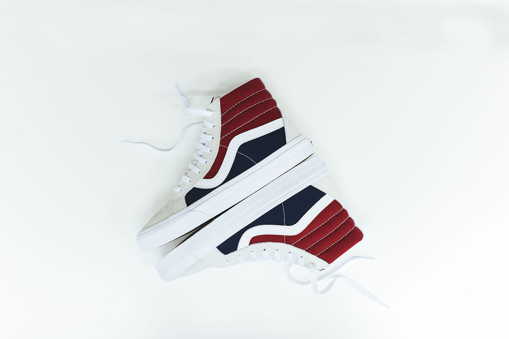 389309b8cb Vans Sk8-Hi Reissue Retro Block - White   Red   Blue – Kith