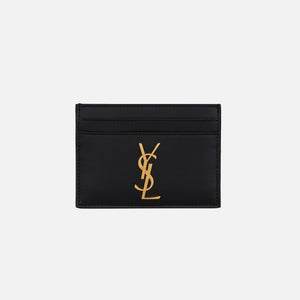 Saint Laurent Credit Card Case Large YSL - Black