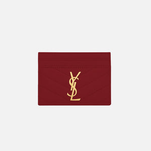 Saint Laurent Credit Card Case - Rouge Opium
