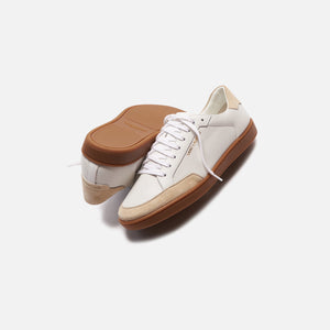 Saint Laurent SL/10 Low Top Sneaker - White / Tan