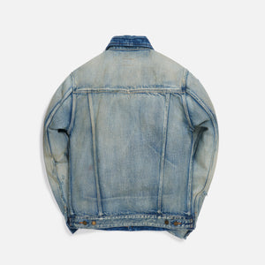 Saint Laurent 70's Trash Denim Jacket - Blue