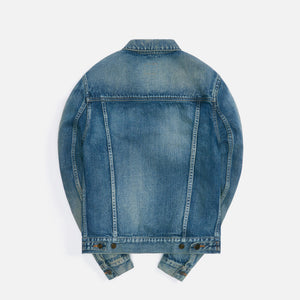 Saint Laurent Fitted Denim Jacket - Dirty Sandy Blue