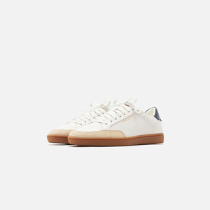 Saint Laurent SL/10 Low Top Sneaker - Blanc Optique / Rouge Eros / Nor