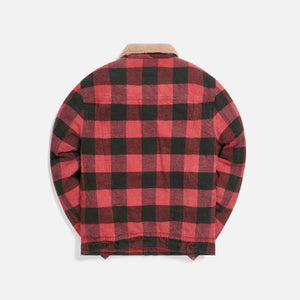 Saint Laurent Fitted Denim Jacket - Red / Black