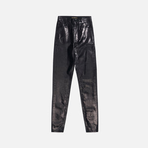 Saint Laurent 5 Pocket Coated Skinny - Black