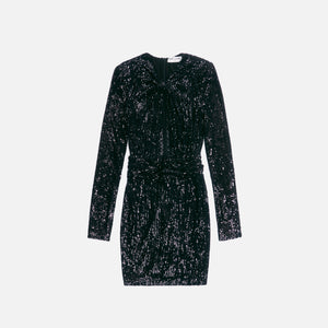 Saint Laurent Robe Nouee Sequins - Noir