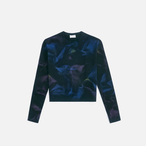 Saint Laurent Sweat Col Round - Noir Bleu