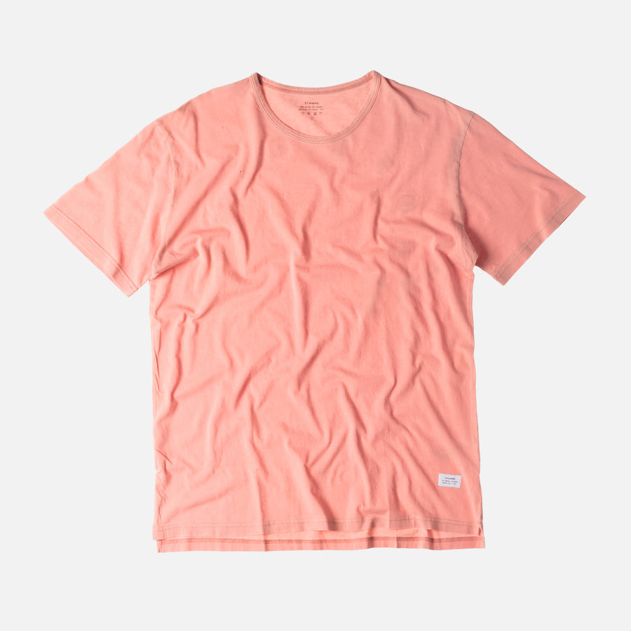 Stampd Distressed Voire Tee - Coral