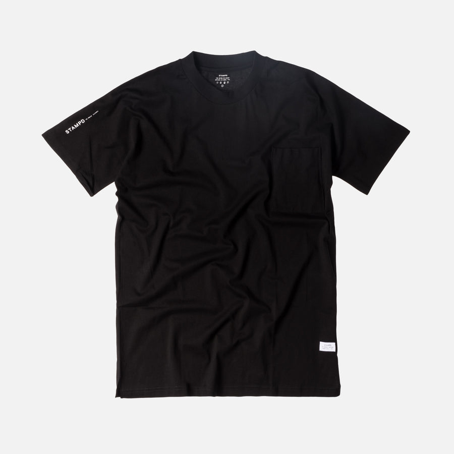 Stampd Mock Neck Pocket Tee - Black