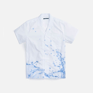 Stampd Printed Camp Collar Button Down - White