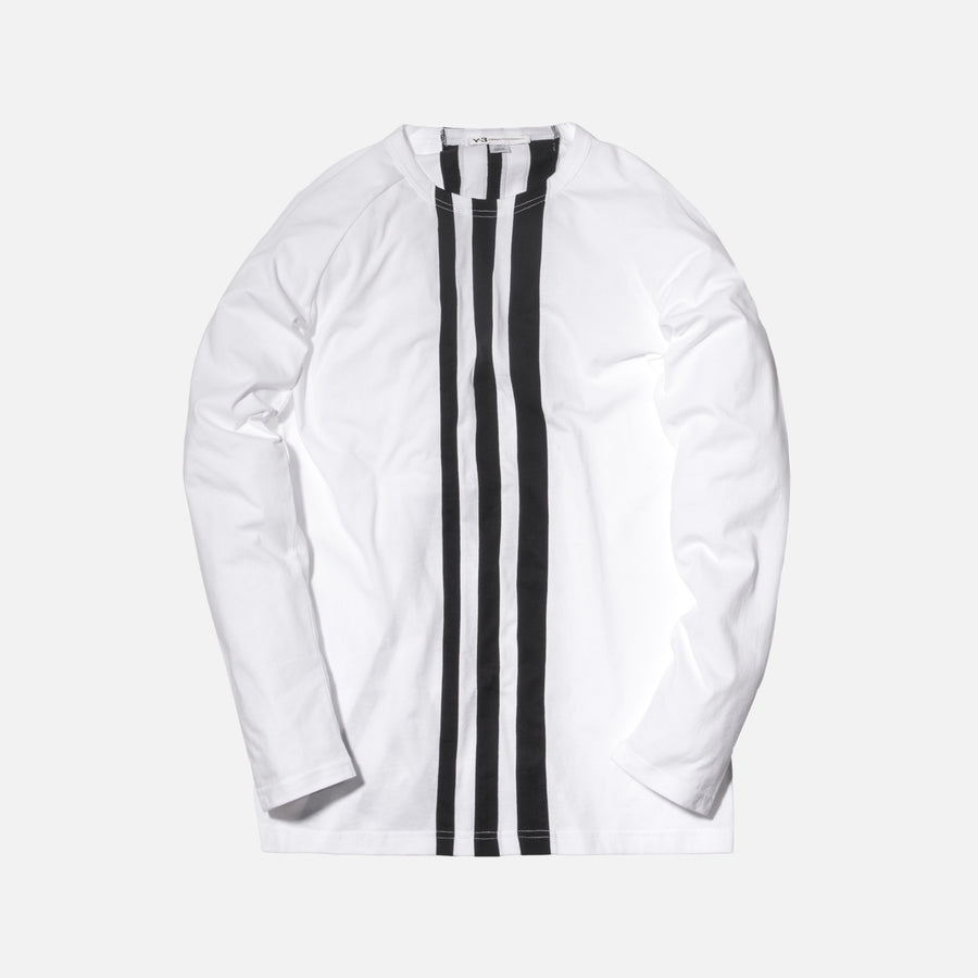 Y-3 3-Stripes L/S Tee - White