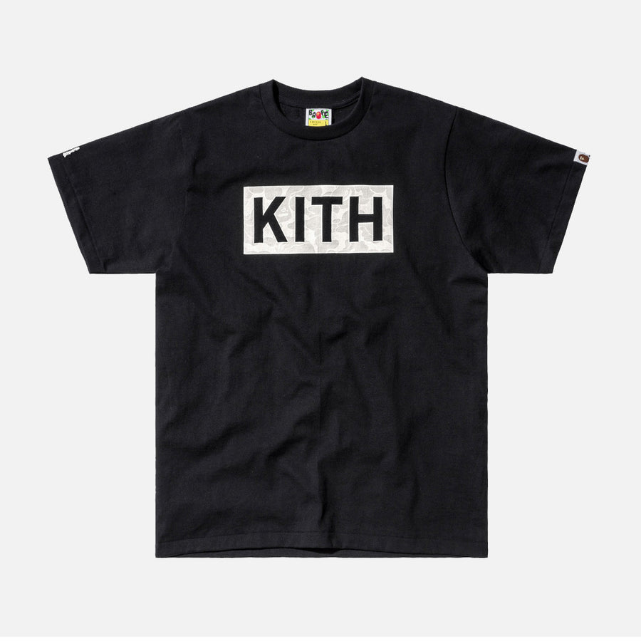 Kith x A Bathing Ape Logo Tee - Black