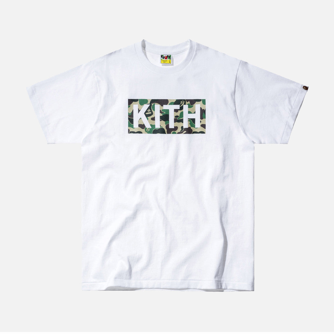 Kith x A Bathing Ape Logo Tee - White