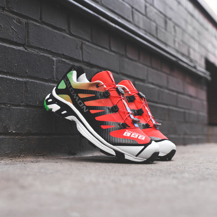 Salomon x The Broken Arm SLAB XT-4 - Fiery Red / Fern Green / White