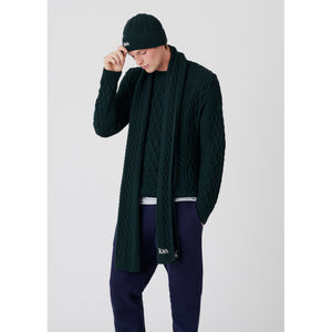 Kith Abingdon Cable Scarf - Scarab Image 2
