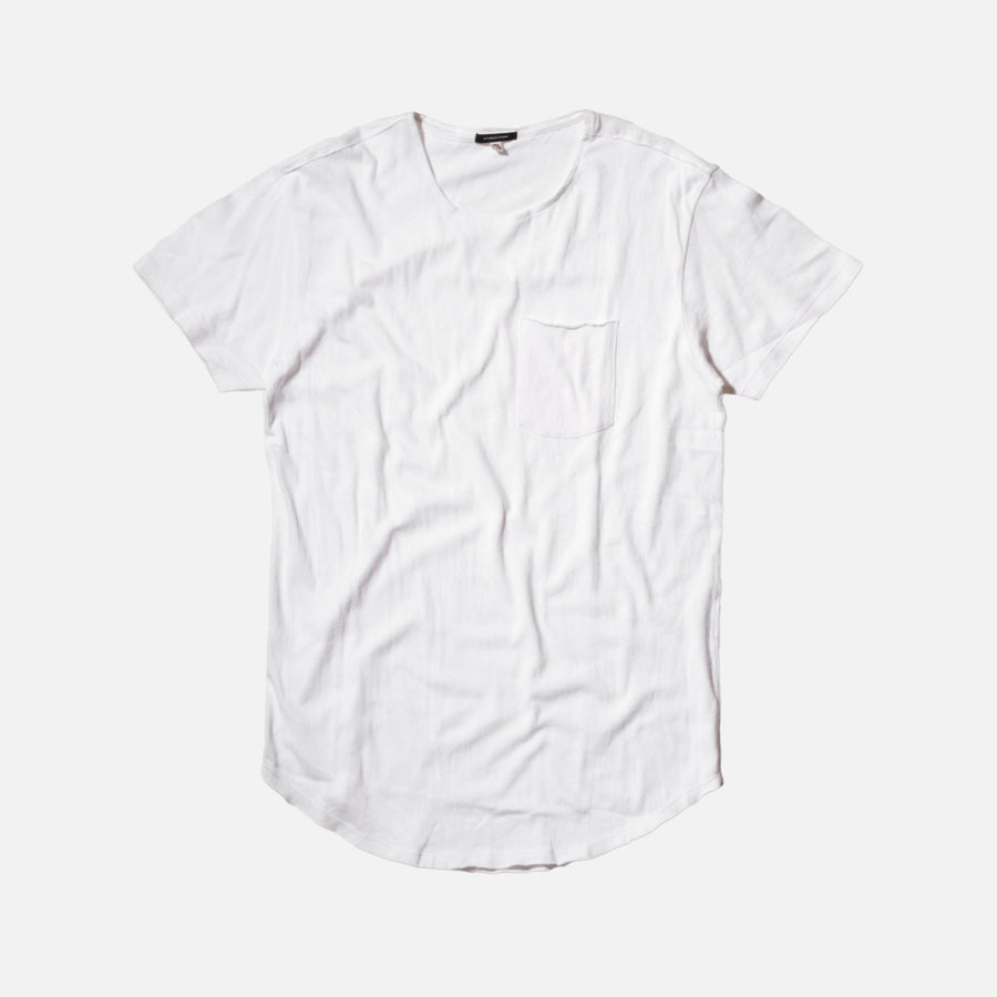 R13 Scoop Bottom Pocket Tee - White