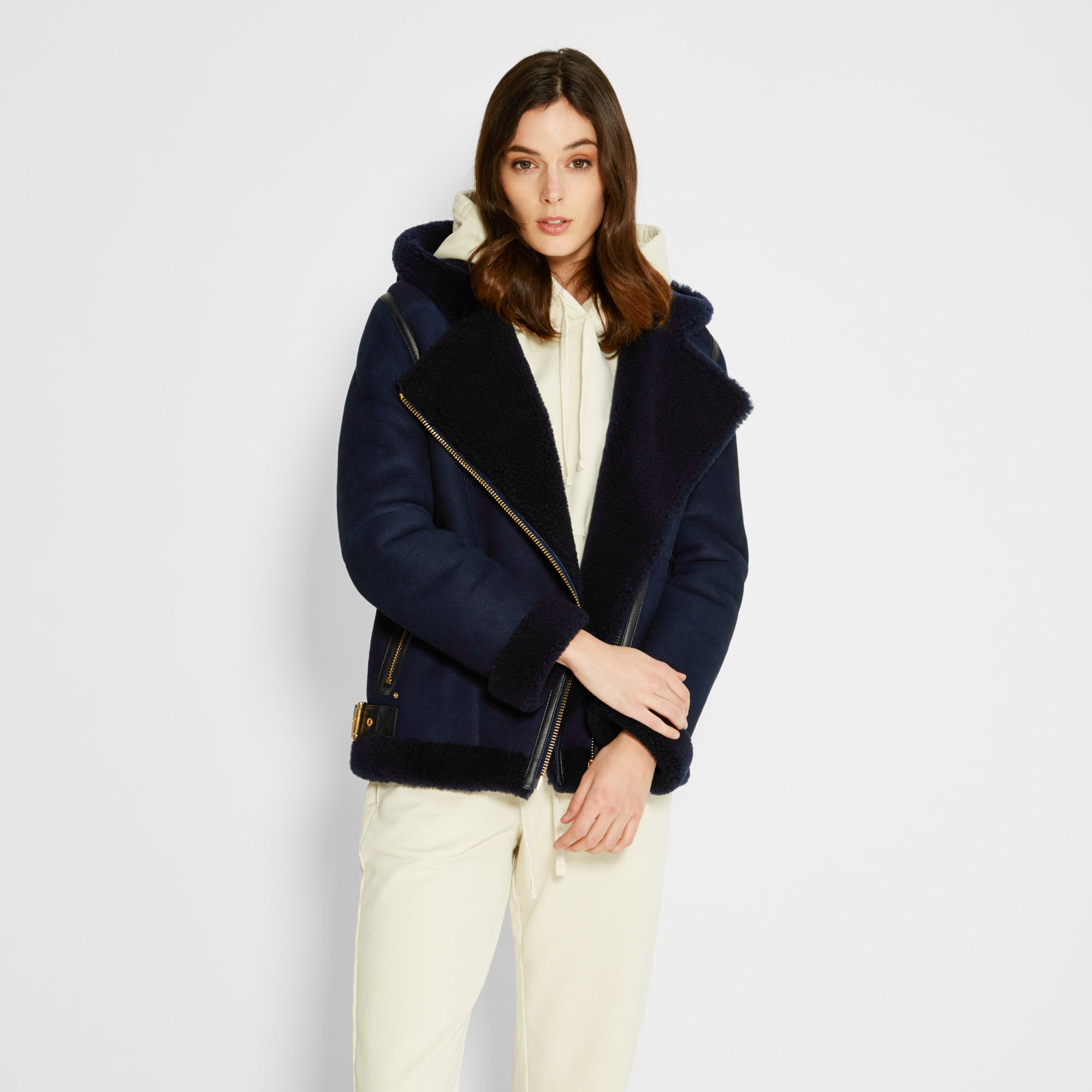 Kith Women x Ugg Moto Jacket - Navy