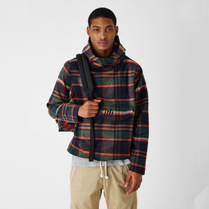 Kith Harrison Plaid Flannel Hooded Pullover - Green / Brown