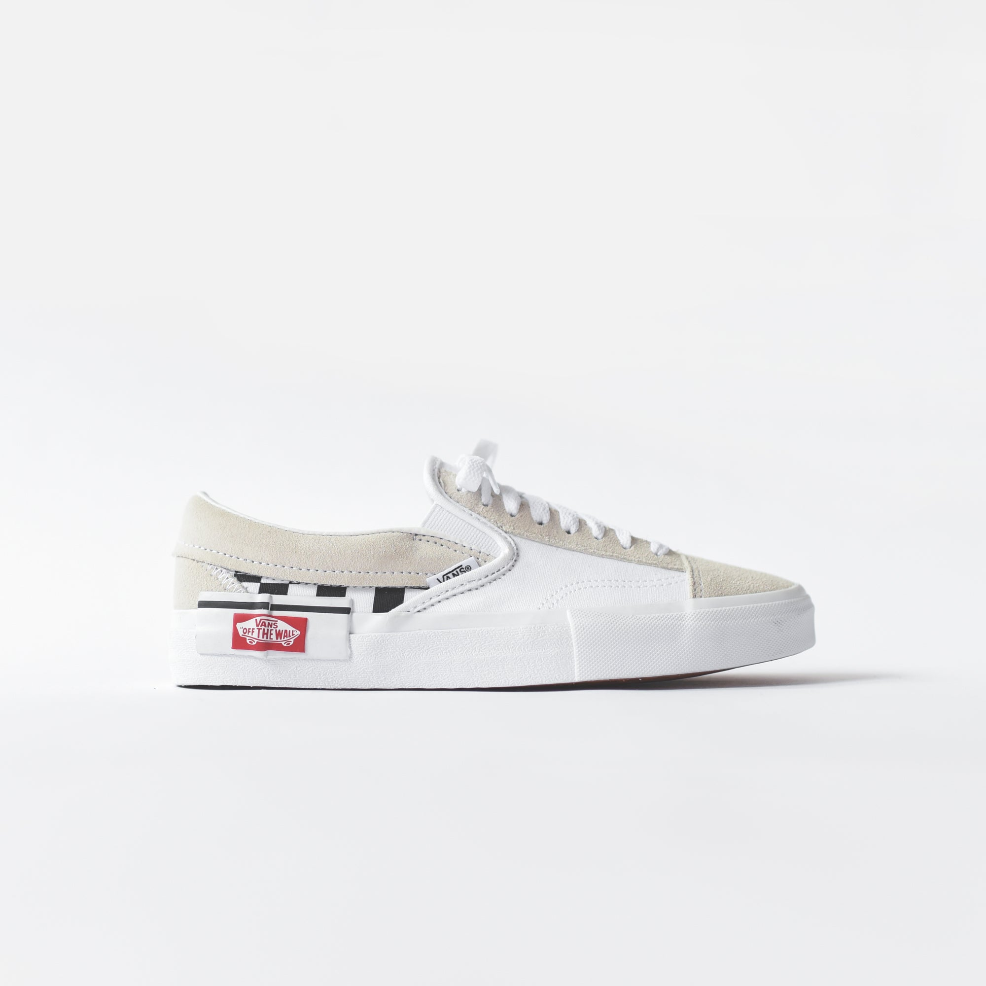 Vans Slip-On Cap - Checkerboard   True White   Black – Kith 0737f54ea
