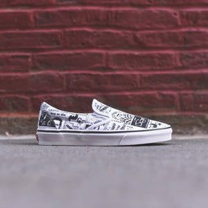 Vans x Ashley Williams Classic Slip-On - Newspaper / True White