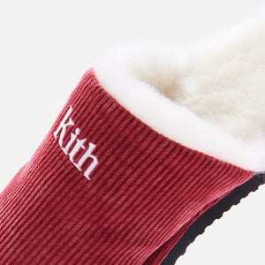 Kith Classic Cord Slipper - Red