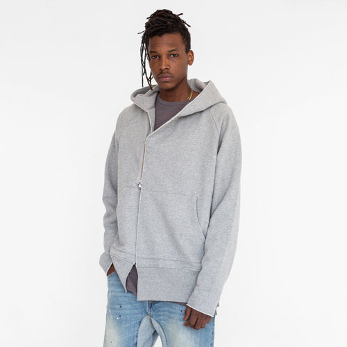 Kith Roman Terry Overlap Hoodie - Heather Grey
