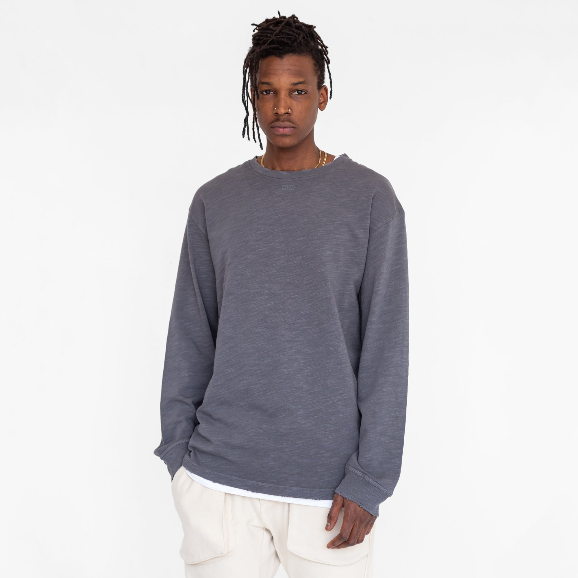 Kith JFK L/S Tee - Iron Gate