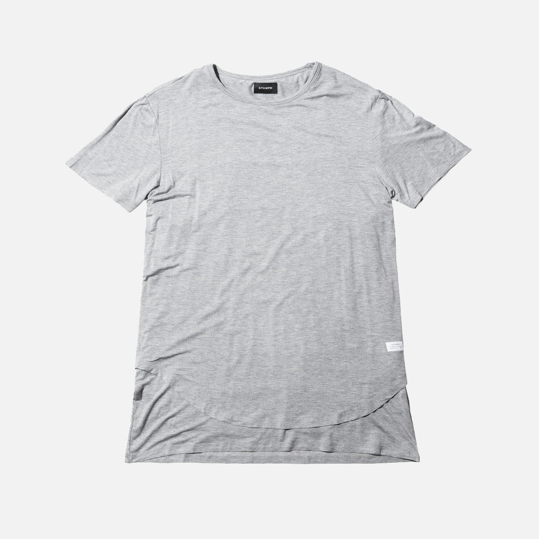 Stampd Double Layer Scallop Tee - Grey
