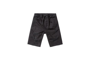Stampd Distressed Denim Short - Black