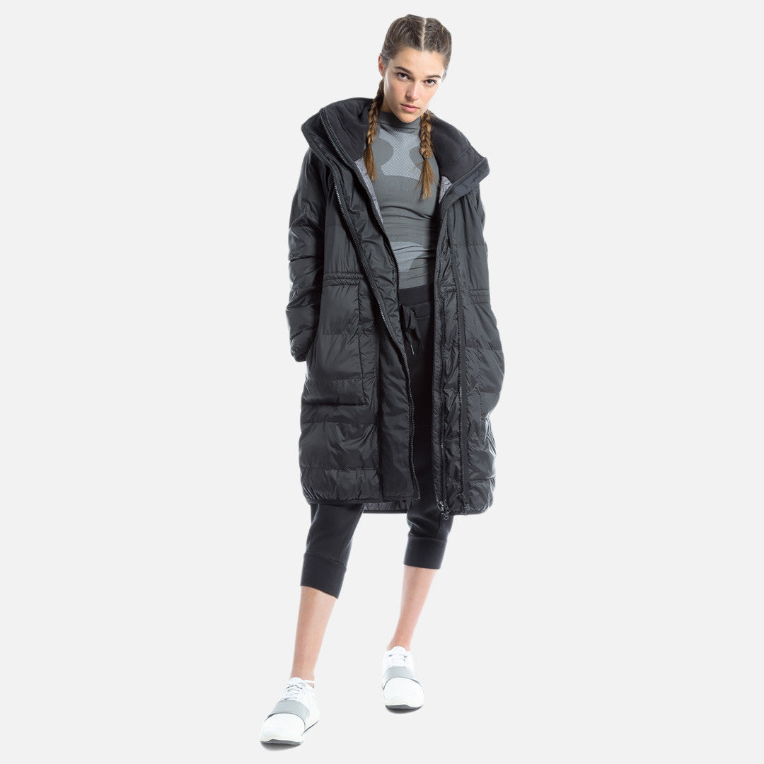adidas by Stella McCartney Essentials Long Padded Jacket - Black