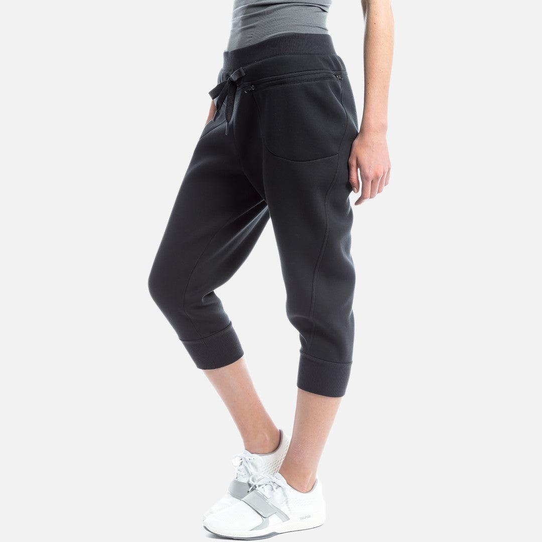 adidas by Stella McCartney Studio 3/4 Sweatpants - Black