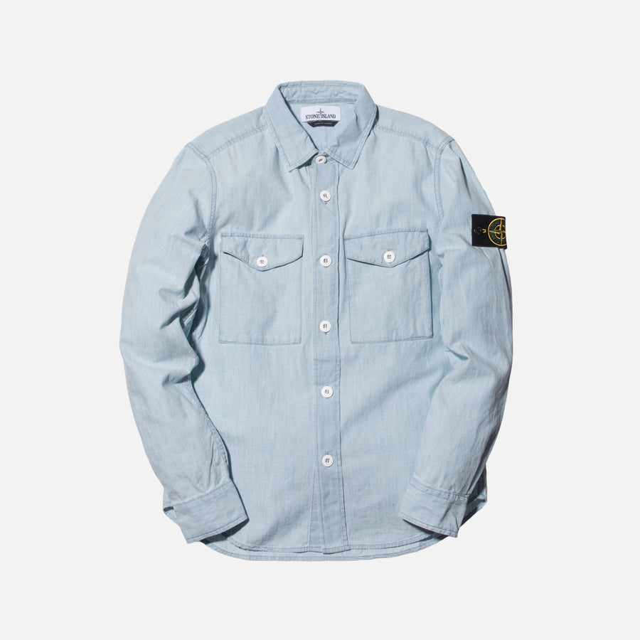 Stone Island Denim Button-Up - Bleach