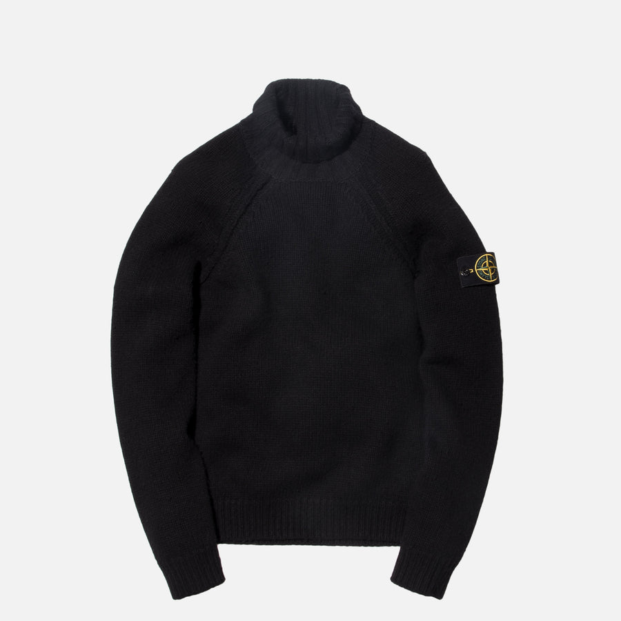Stone Island Knit Turtleneck - Black