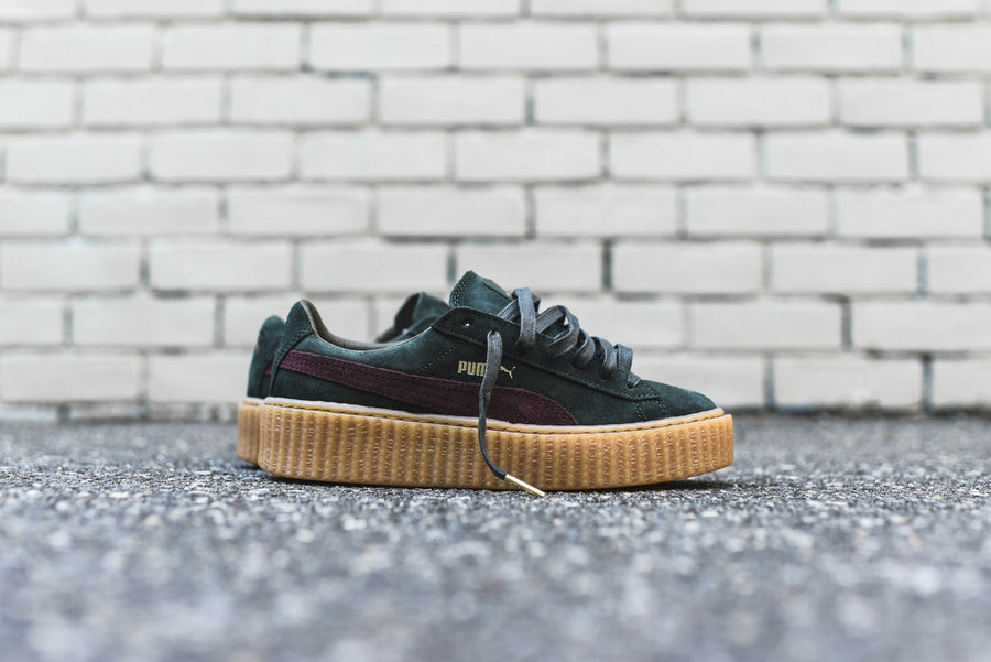 Puma x Rihanna Suede Creeper - Green / Bordeaux