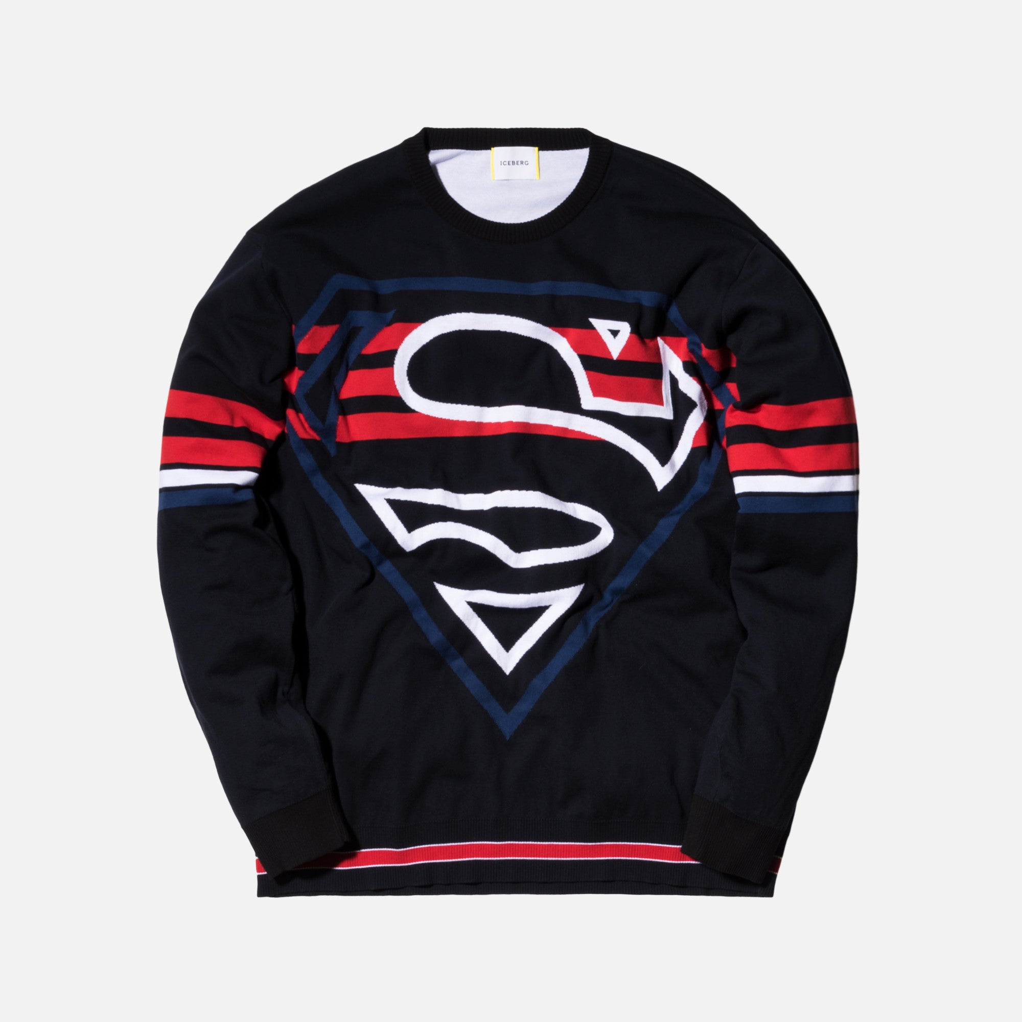 Iceberg Superman Logo Sweater - Classic Blue