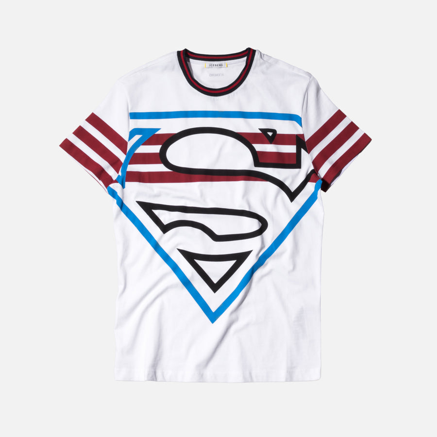 Iceberg Superman Logo Tee - White
