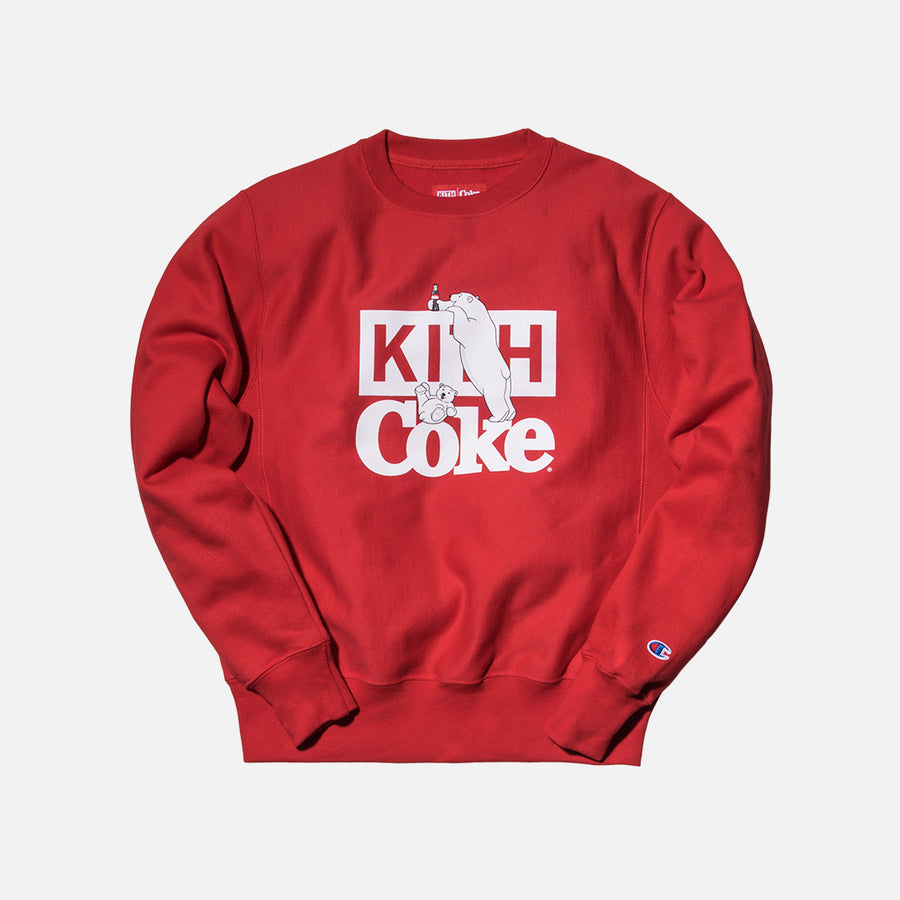 Kith x Coca-Cola Polar Bear Crewneck - Red