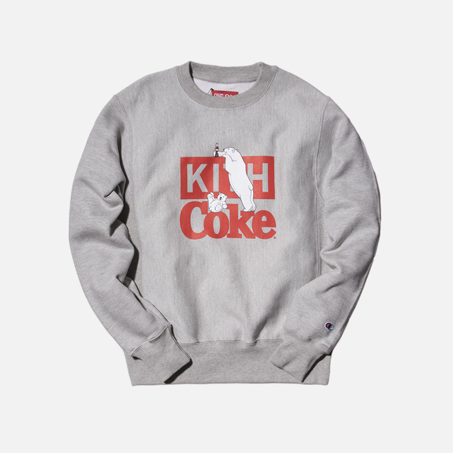 Kith x Coca-Cola Polar Bear Crewneck - Grey