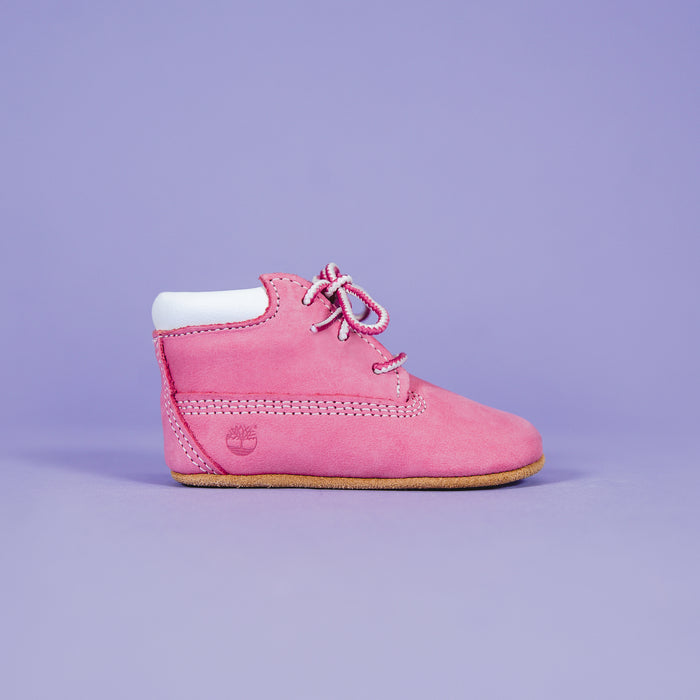 Timberland Crib Bootie with Hat - Pink